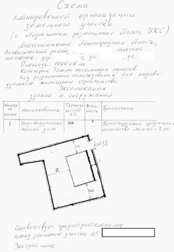 СПОЗУ, схема планировочной организации участка