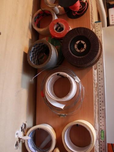 Хранение изолент и клейких лент