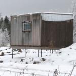 Дом на свайном фундаменте на торфянике