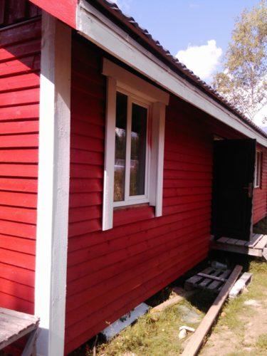 деревянный фасад, краска, доска